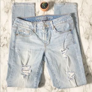 American Eagle 🦅 Distressed Skinny Jeans Size 4